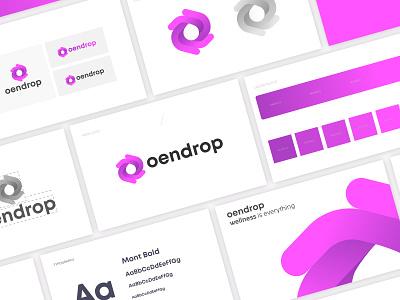 oendrop logo design logo logo design brand brand mark identity logodesign concept creative branding abstract modern peace sakura flower wellness water oil drop