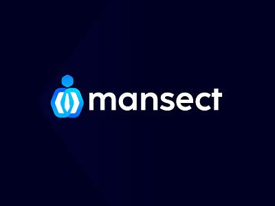mansect logo design logodesign logos brandmark branding identity concept design modern abstract business logo creative consult corporate member boss client man office saas business