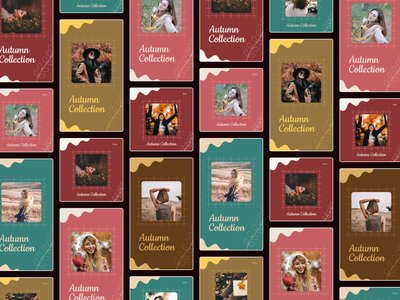 Instagram Post & Story Collection | Autumn Fashion 🌻 story freebie free flat fashion autumn modern ui illustration graphic design ad design design post social media instagram