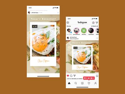 Instagram Post | Breakfast Menu 🍛 menu breakfast egg story modern free flat ui illustration graphic design ad design design social post media instagram