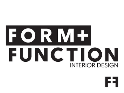 Form + Function B&W medical industry logo form function minimal black and white interior design