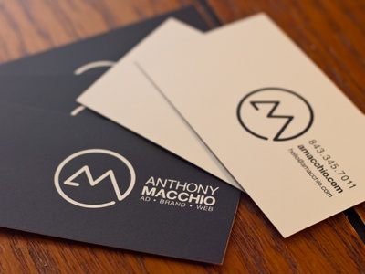 Personal Business Cards stationery freelance identity brand logo photo print business cards