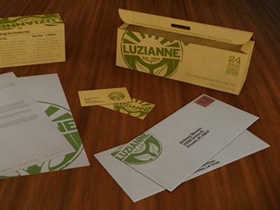 Luzianne Rebrand rebrand identity brand packaging texture logo stationery business card 3d render