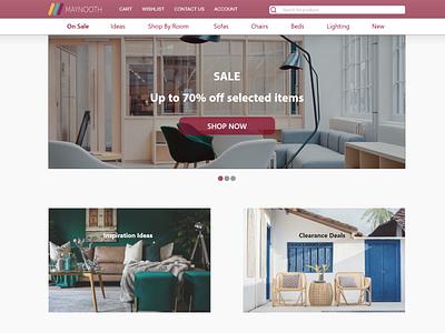 Maynooth Furniture - Homepage web homepage ui ux design ui design maynooth furniture maynooth adobe xd ui ux ux ui