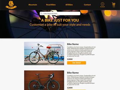 Roar Bikes Homepage Design ui ui design design ui ux design ui ux adobe xd