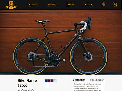Roar Bikes Product Page Design bikes roar roar bikes design ui ux design ui ux ui design ui adobe xd