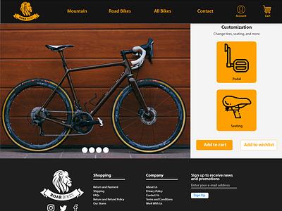 Roar Bikes Customization Page bikes roar roar bikes design ui ux design ui ux ui ui design adobe xd