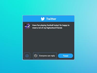 Twitter Widgets twitter adobe xd ui ux design ux ui mobile widget dribbbleweeklywarmup