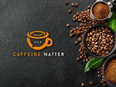 Caffeine natter chat coffee logos modern logo minimalistic clean modern minimalist insignia minimal website animation flat web typography branding logo design illustration