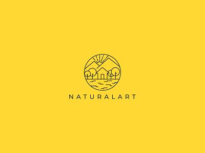 Naturalart line icon naturalistic natural logo modern minimalistic creative creative design logos linework lineart line modern logo minimalist logo insignia clean branding