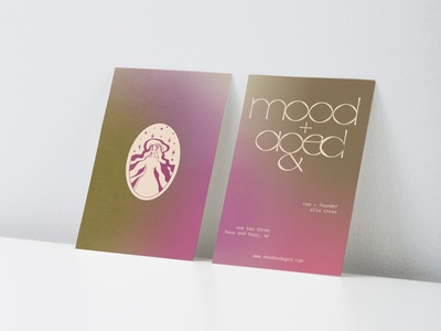 mood+aged Vintage Goods Branding brand visual identity vintage goods sustainability clothing fashion typography logo illustration design branding