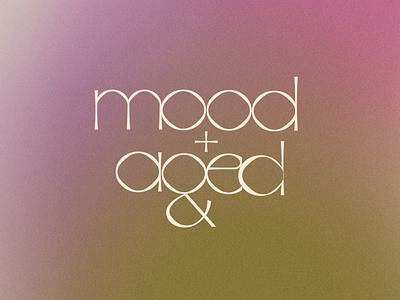 mood+aged logotype fashion logotype brand identity visual identity brand typography logo illustration design branding