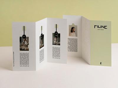 Filine Eau De Parfum Brochure Design print design brochure brand identity perfumer brand visual identity typography logo design branding