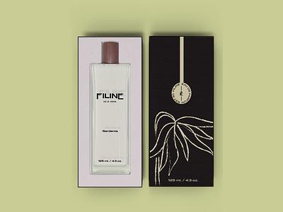 Filine Eau De Parfum Packaging Design packaging design line drawing floral botanical perfumer brand visual identity illustration typography logo design branding