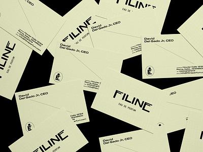 Filine Eau De Parfum Business Card Design print design business card brand visual identity illustration typography logo design branding