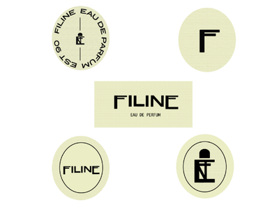 Filine Eau De Parfum Brand Icon and Marks strategy business brand marks logotype icons brand identity perfumer brand visual identity typography logo design branding