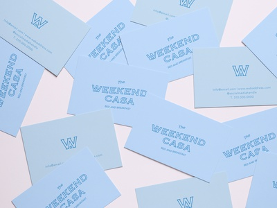 The Weekend Casa Business Card Design icon business card travel travelling rental home brand visual identity typography logo design branding