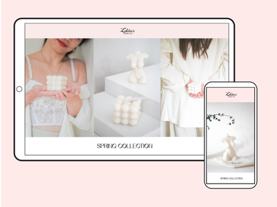 Lolita's Candle Co. Website Logo Banner graphic design chic icon soy wax candle web design website brand visual identity typography logo design branding