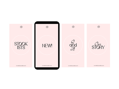 Lolita's Candle Co. Instagram Highlight Covers social media graphics vancouver handmade soy wax candle brand visual identity typography logo branding design