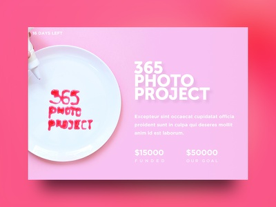 crowd funding campaign food ui pink concept photo crowd funding