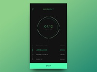 Workout tracker concept