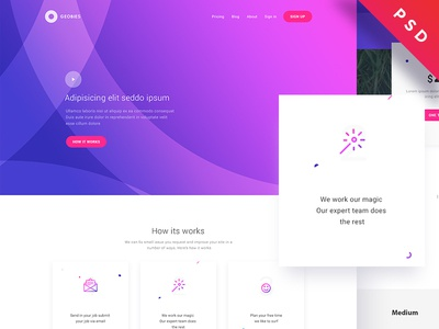 Service website freebie