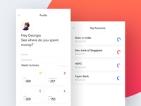 Profile screen of expense tracker app