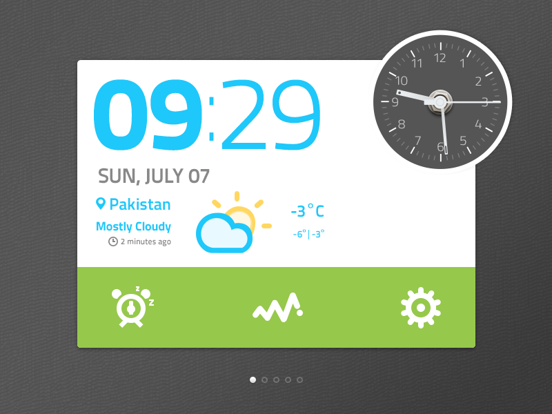 Time Widget PSD by Jawad S on Dribbble