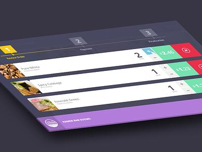 Step 1 -  Cart for desktop food app food app ui ux native ios android team-interloop