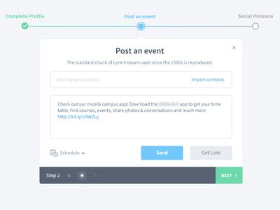 Post an event