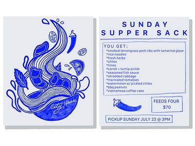 Noodle Bowl Layout minimal illustration design