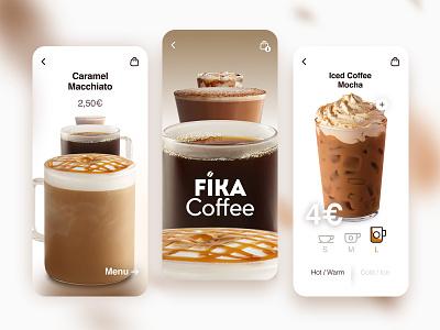 Coffee App logo coffee app designer mobile app design mobile app ux uiux ui interface motion interaction icon design app design delivery clean branding app design app animation