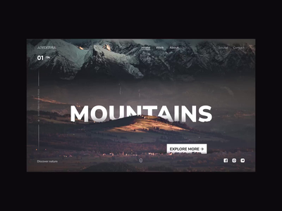 Adventures Web Page Concept identity page scroll design video ux ui motion interface typography site jungle safari mountains interaction website web gif branding animation