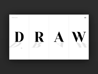 Draw / Art Library Web Page Concept art paintings identity gif draw artists page site typography video website web branding ux ui motion interface interaction design animation