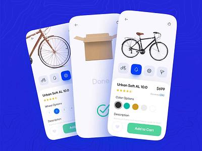 Bike Shop App - Customization bike app motion prototype mobile figma customization bike shop bicycle shop bicycle app bicycle bike mobile app interactive app design app ux ui interaction design animation