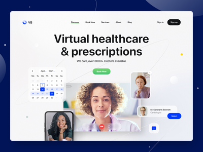 Medical Site Landing Page clinic patient doctor appointment healthcare health care prescriptions medic booking simple hospital clean web landing page doctor medical site website branding design ux ui