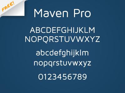 Maven Pro - FREE FONT maven pro font typography free vissol sans serif