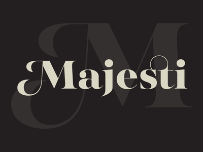 Majesti Banner swash hairline font contrast high serif type lost banner majesti