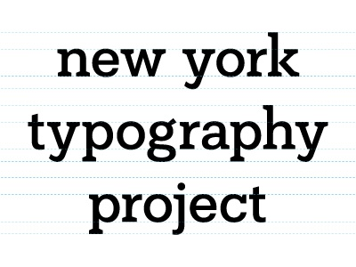 New York Typography Project