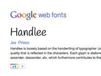 Handlee Google Web Font