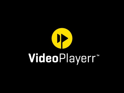 Video Playerr v.2 video playerr logo fast forward stream online geogrotesque yellow