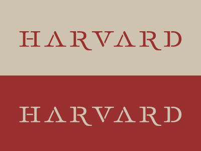 Harvard harvard serif stencil custom type typography