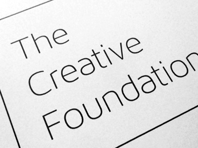 The Creative Foundation creative foundation maven pro thin sans serif font print specimen sample typography type