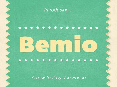 Bemio Now Available! bemio font sans typography lost type joe prince stars donate download co-op