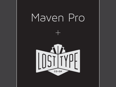 Maven Pro Light Collection maven pro light collection font lost type typography typeface 100 200 300 thin hairline extra light