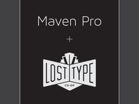 Maven Pro Light Collection