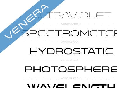 Venera venera font typography sans geometric weight versatile lost type space hairline thin medium bold regular book specimen
