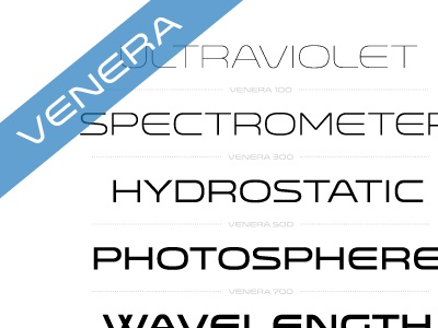 Venera venera font typography sans geometric weight versatile lost type space hairline thin medium bold regular book specimen