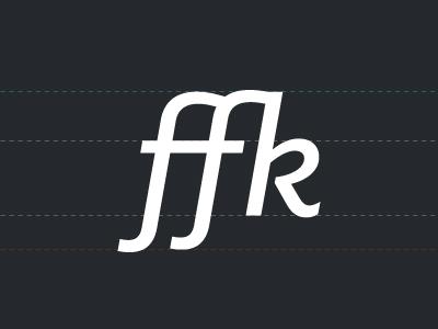 f_f_k ligature klinic slab ligature f-f-k serif italic