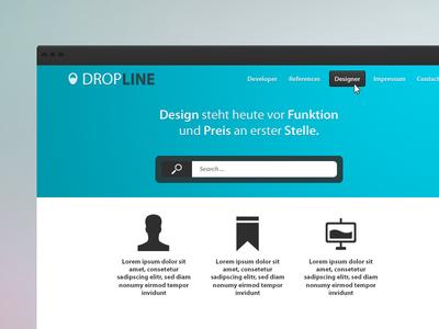 Dropline launcher concept